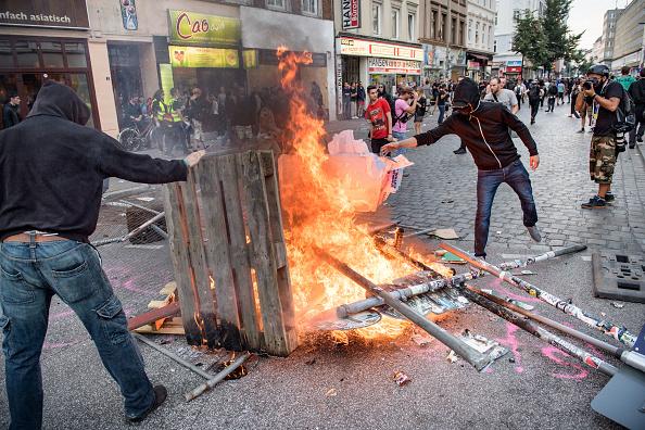 disturbios, protestas, cumbre g20, alemania, hamburgo, quemas