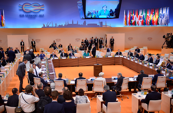 Líderes mundiales, presidentes, delegados mundiales, cumbre, cumbre G20, Hamburgo, Alemania