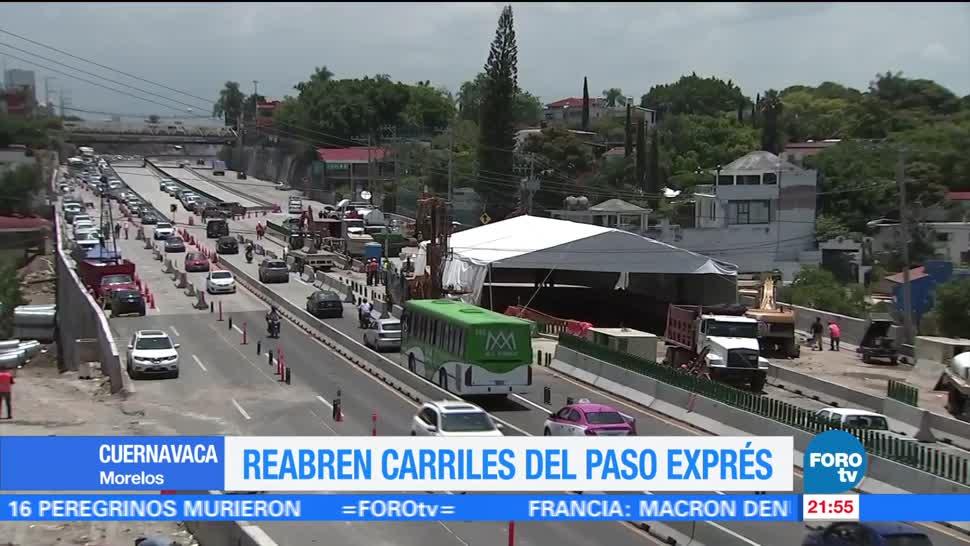 Tráfico, acapulco, Abren, circulación, dos carriles, Paso Express