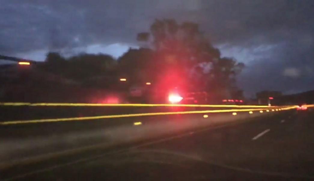 Tres traileres chocan por alcance en la mexico cuernavaca