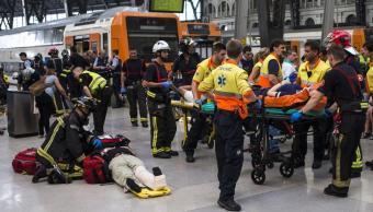 Accidente tren Barcelona España centenar heridos