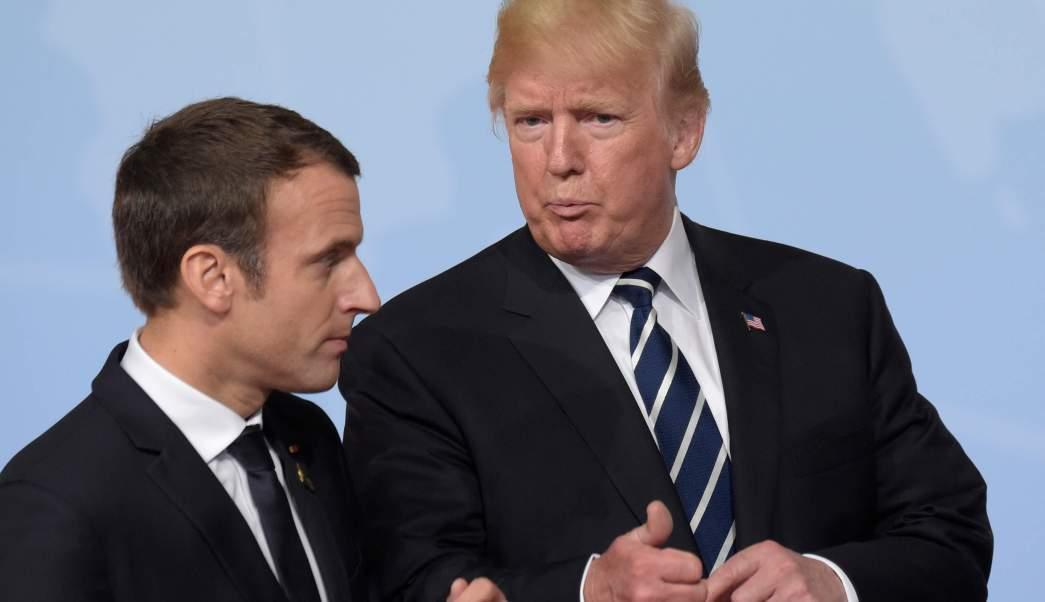 Presidente de Francia, Emmanuel Macron, presidente de Estados Unidos, Donald Trump