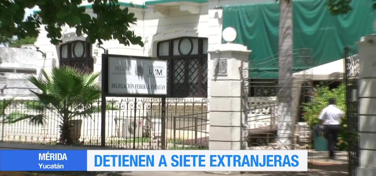 noticias, forotv, Aseguran, 7 extranjeros, Mérida, Yucatán