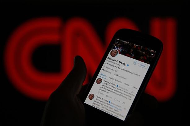 Critican en redes sociales la postura agresiva de Donald contra CNN a través de Twitter (Getty Images)
