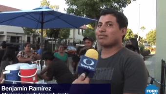 Vendedor mexicano de elotes en California