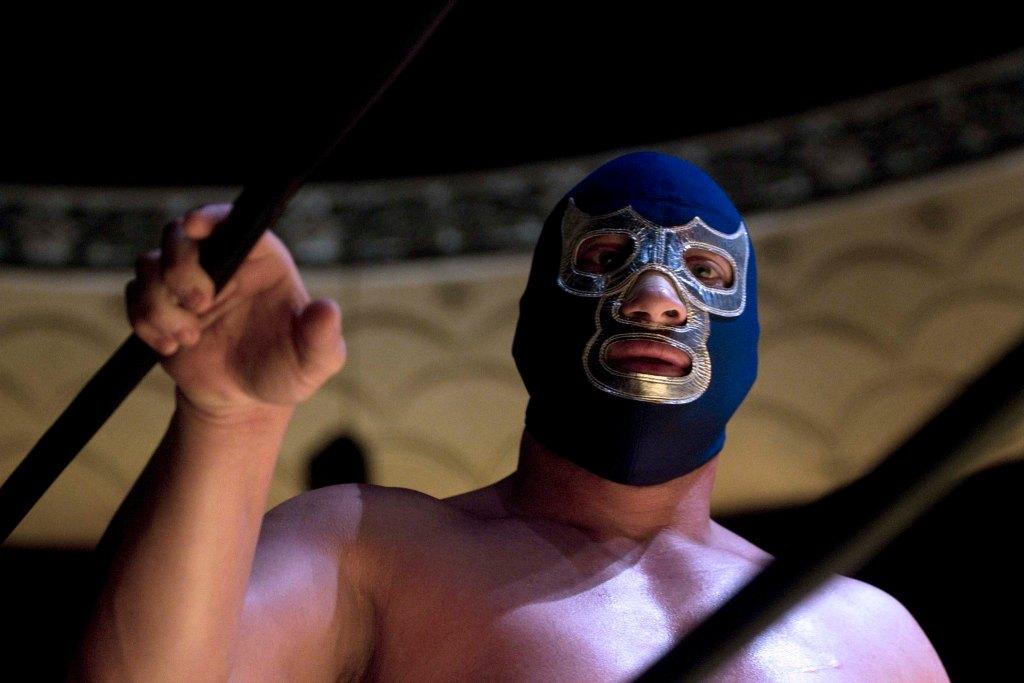 blue demon, lucha libre, santo, máscara, ring, personaje