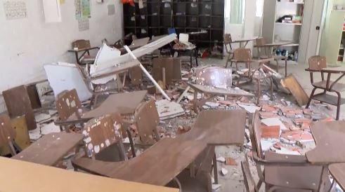 cae techo en salon de clases en monterrey
