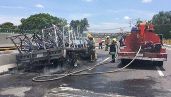 Incendio, Camioneta, Cuernavaca, Paso Express, Noticias, Noticieros