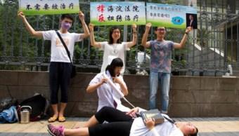 Activistas de derechos de los homosexuales en China (AP)