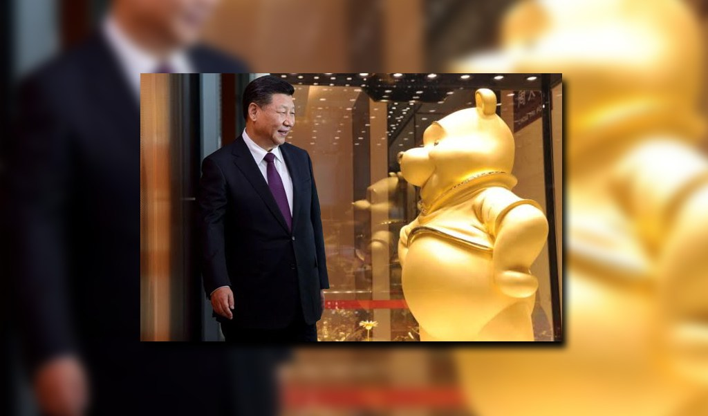 El presidente de China Xi Jinping y una figura de Winnie the Pooh (Getty Images)