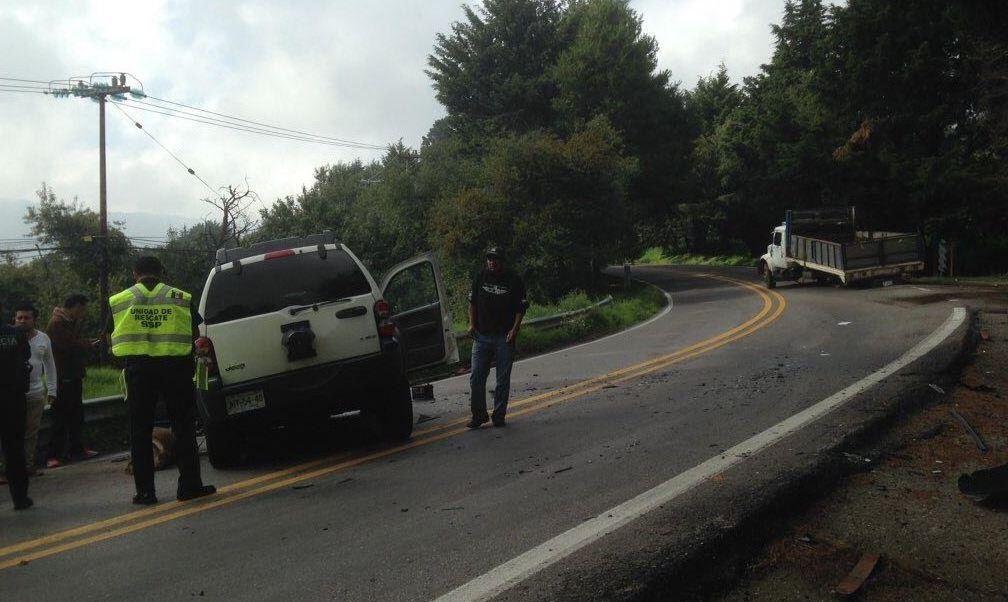 El accidente se registró en el kilómetro 31 de la carretera México-Cuernavaca (Noticieros Televisa)