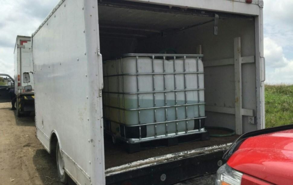 Combustible robado en San Martín Texmelucan, Puebla. (Twiter Seguridad Pública)