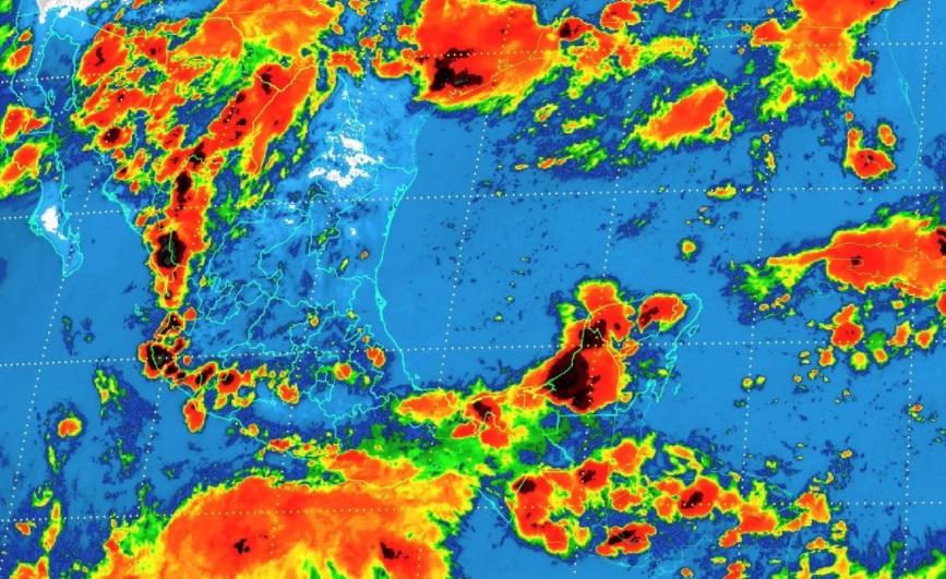 Una nueva onda tropical sobre la Península de Yucatán y la zona de inestabilidad permanecerá en el norte del país (Twitter: @conagua_mx)