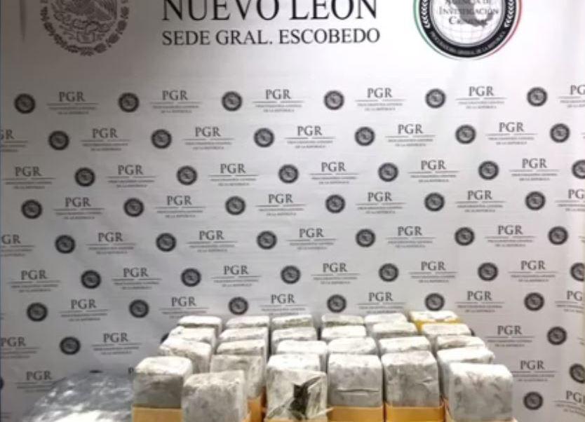 Decomiso de marihuana en paquetería de Monterrey