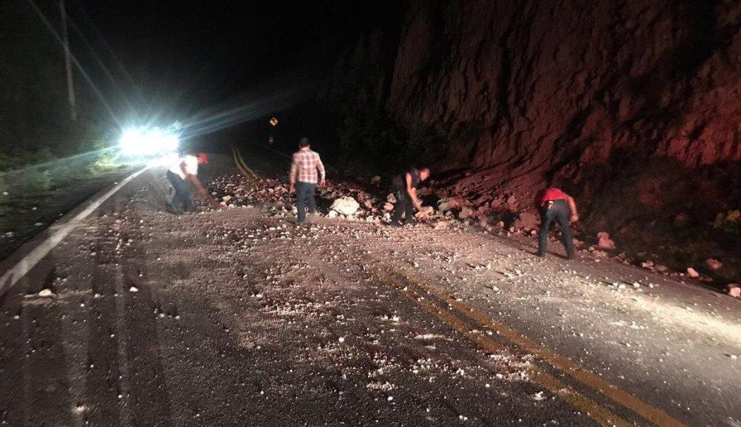 Policía Federal, carretera, autopista, Cuernavaca, Chilpancingo, derrumbe, seguridad