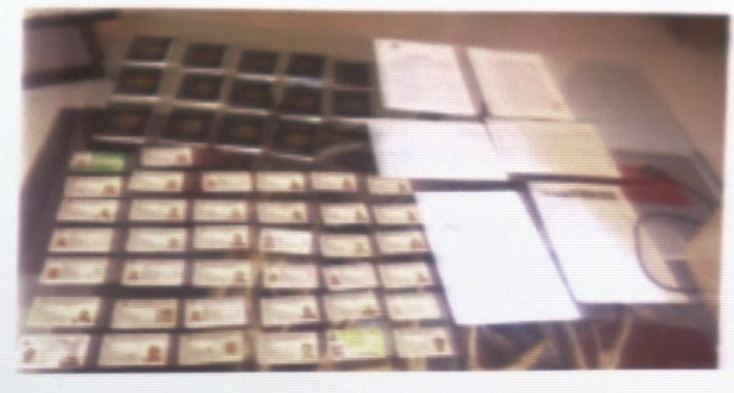 Documentos falsificados por una banda que operaba en Nuevo León