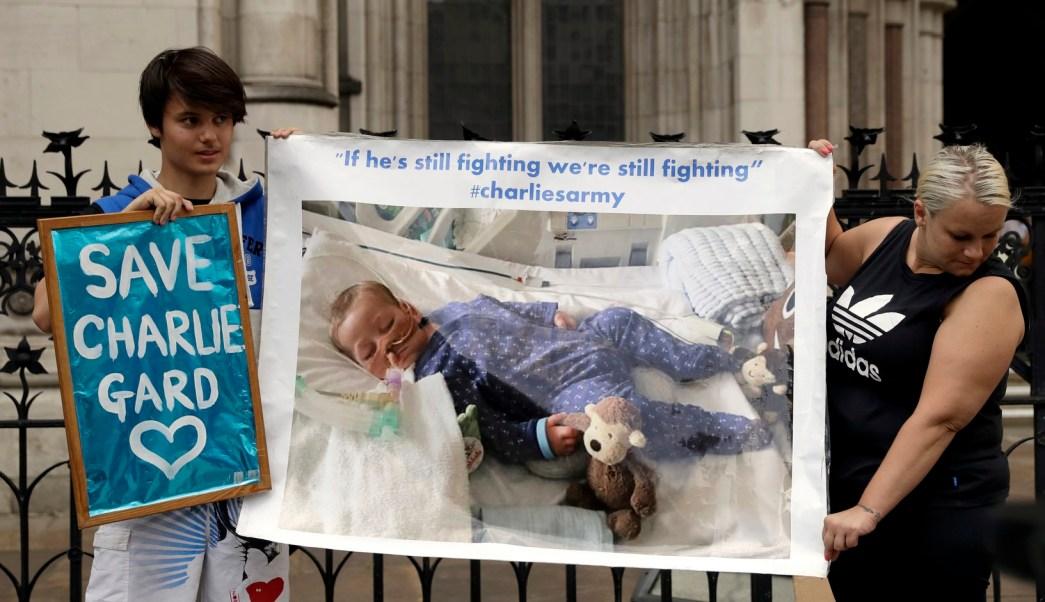 El caso de Charlie Gard domina los encabezados en Reino Unido