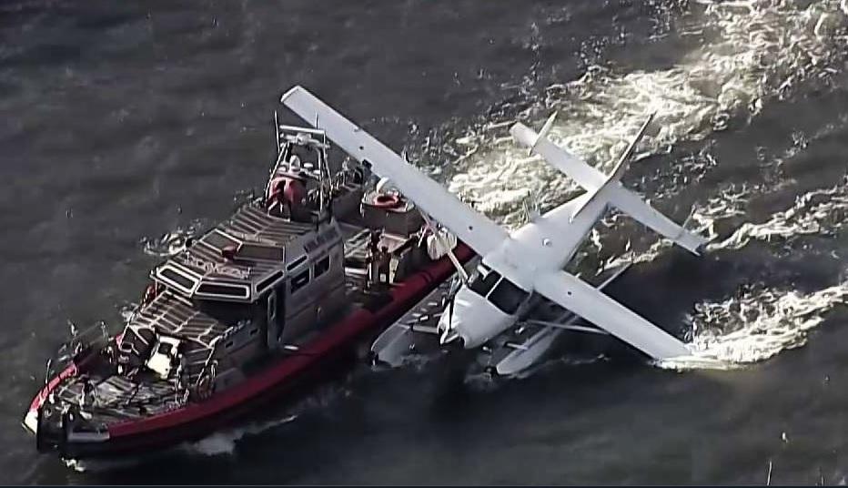 Bomberos, hidroavión, East River, Nueva York, accidente, Manhattan,