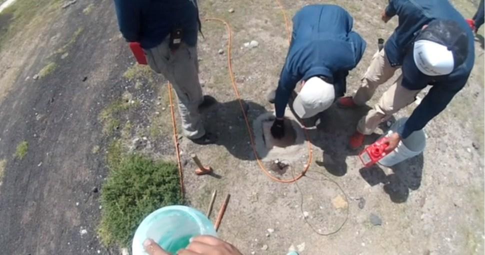 cientificos analizan la base de teotihuacan