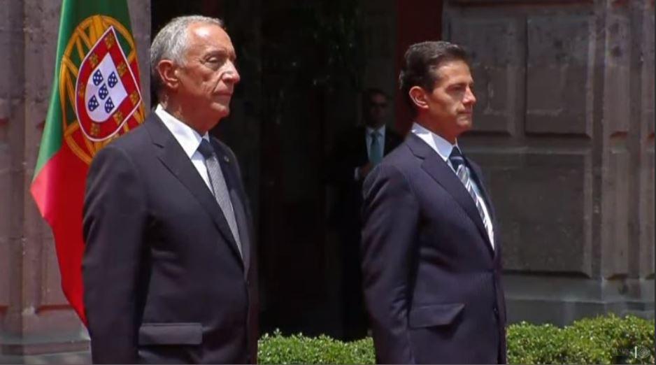 Visita México presidente de la República Portuguesa