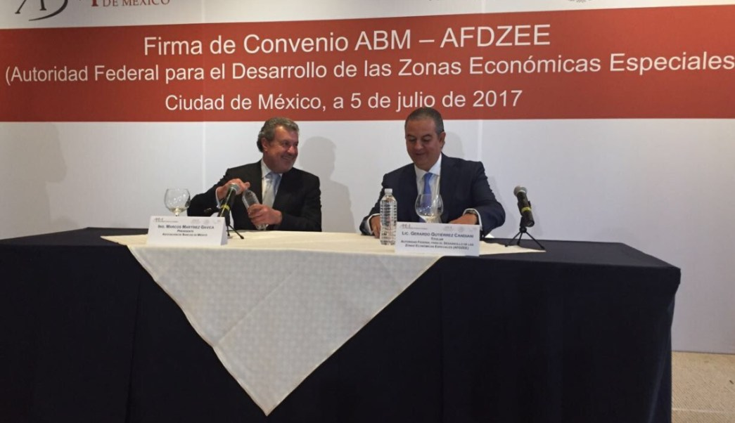 Se firmó un convenio por las Zonas Económicas Especiales. (Twitter @ZonasEconomicas)