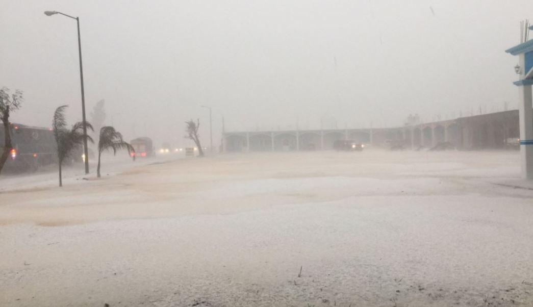 lluvia granizada provocan encharcamientos carretera puebla