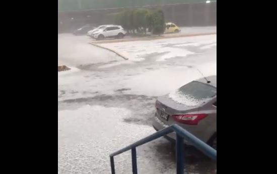 Lluvia, Vialidad, Tultitlan, Edomex, Clima, Granizada