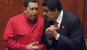 Hugo Chávez y Nicolás Maduro en diciembre de 2007