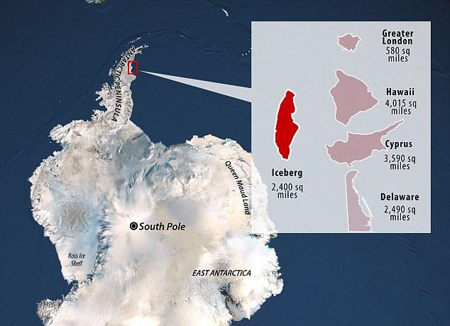 Iceberg gigante, tamaño, comparación