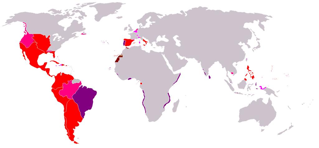 Imperio español, mapa