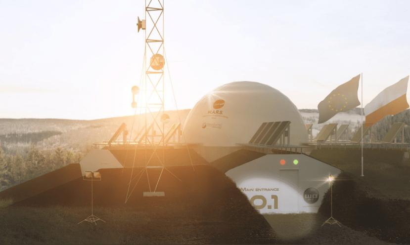 Instalaciones en Polonia de la misión análoga a Marte