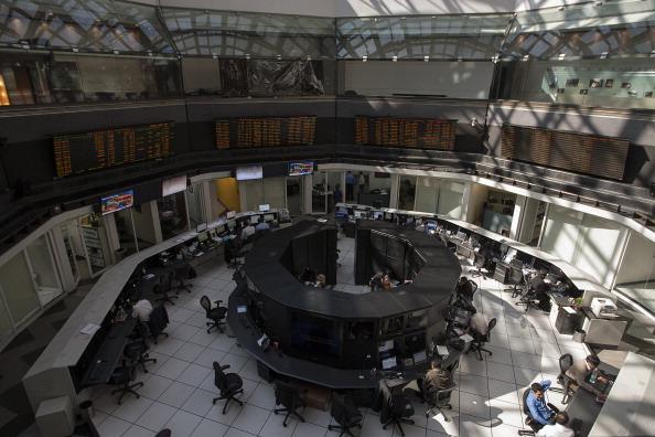 Interior de la BMV en Ciudad de México