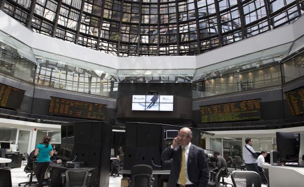 Interior de la Bolsa Mexicana de Valores (Getty Images)