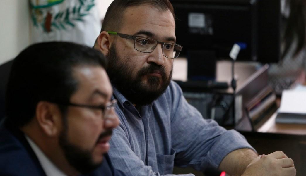 Javier Duarte durante audiencia en tribunal guatemalteco