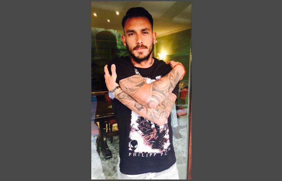 Jugador de futbol chileno Mauricio Pinilla
