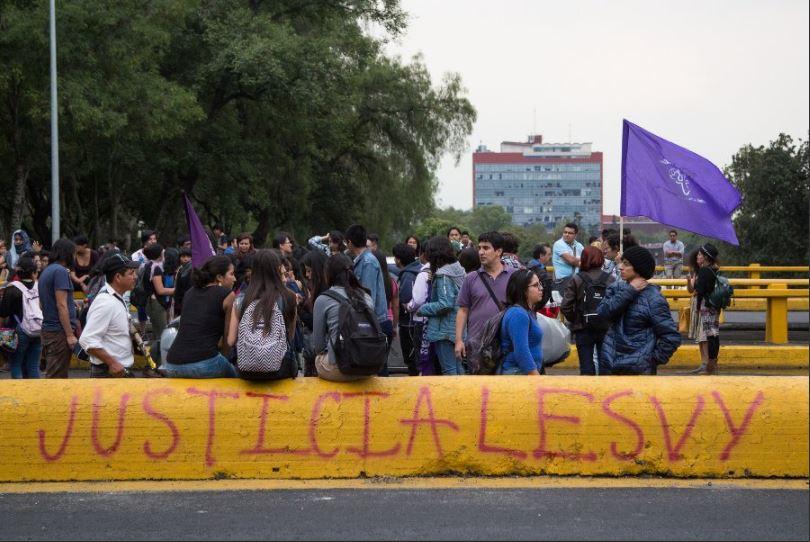 Estudiantes se manifiesta por la muerte de lesvy osorio
