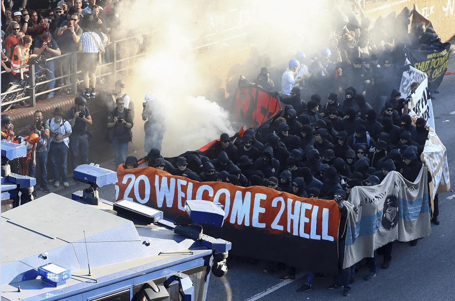 La manifestación ha sido denominada 'G20, bienvenido al infierno'