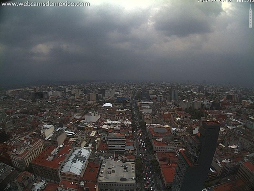 Llueve en la CDMX. (Twitter Webcams de México)
