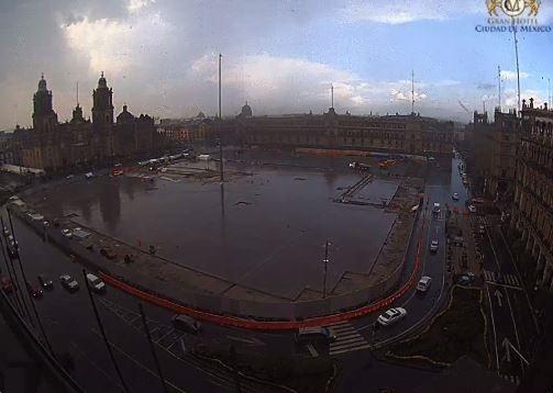 Lluvia Ligera en la Ciudad de México, Encharcamientos, Lluvia, Clima, Transito,