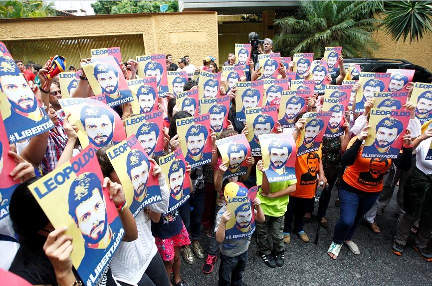 Los partidarios del líder de la oposición venezolana Leopoldo López (Reuters)