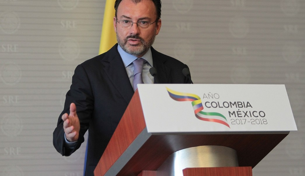 Videgaray presentó el Año Dual México-Colombia. (Notimex)