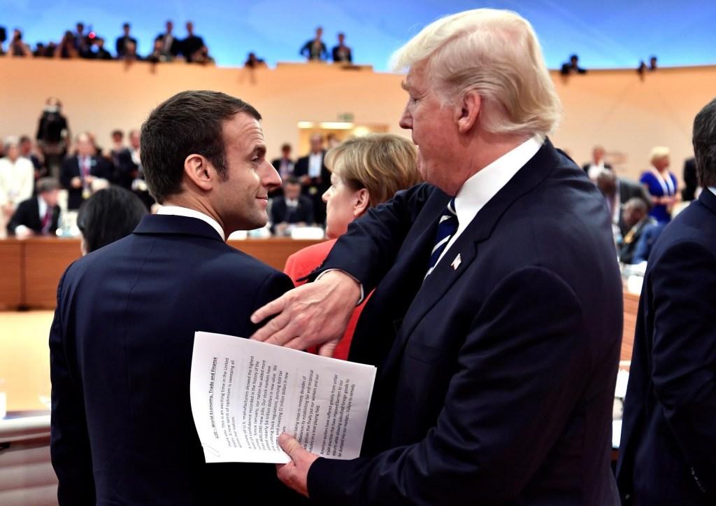 Emmanuel Macron, presidente de Francia, y Donald Trump, presidente de Estados Unidos