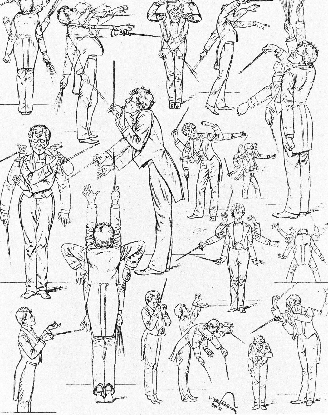 Grandes Directores Orquesta, Compositores, Ilustración