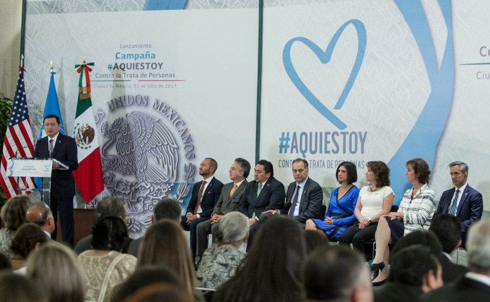 Osorio Chong campaña contra trata personas