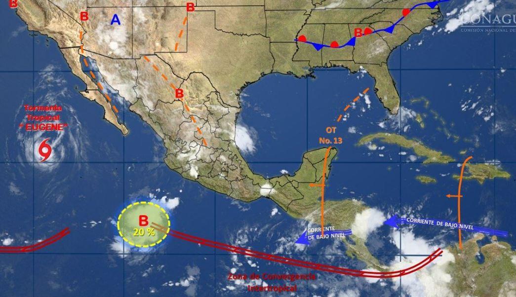 mapa con el clima para este 11 de julio