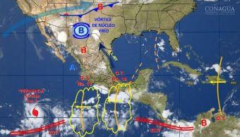 mapa con el clima para este 14 de julio