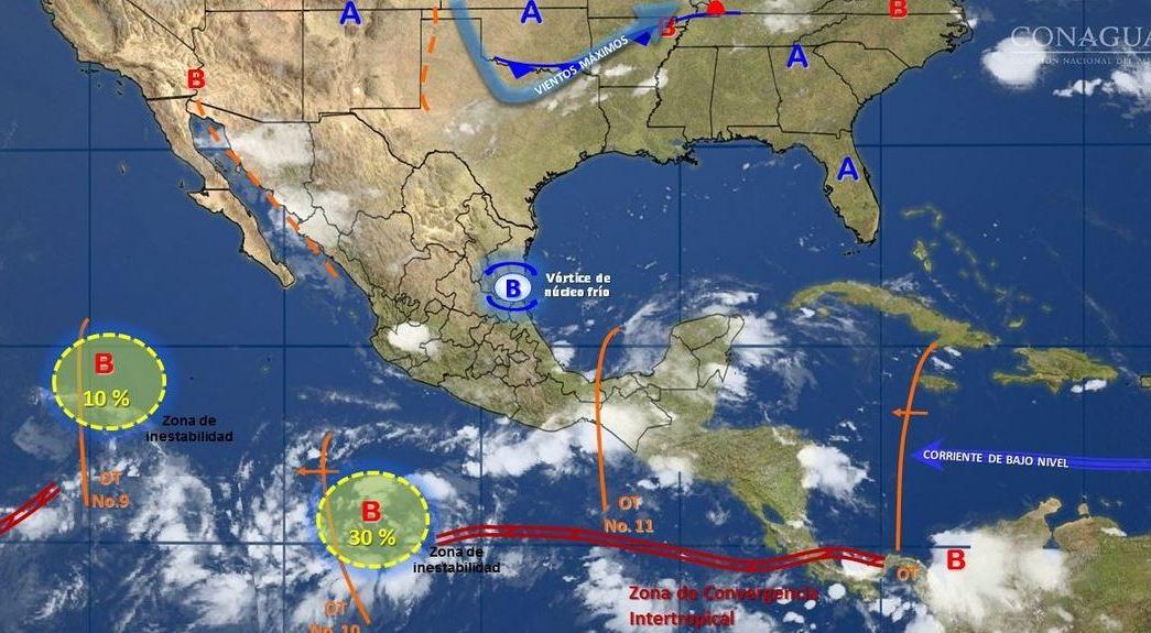 mapa con el clima para este 6 de julio