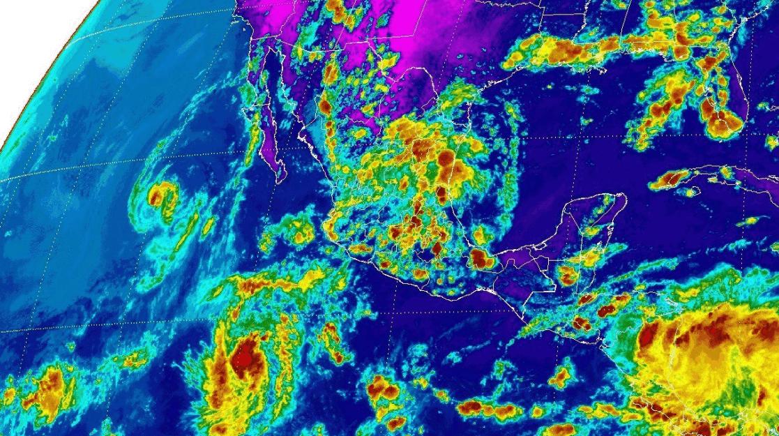 Prevén lluvias fuertes sobre Oaxaca, Chiapas y Tabasco
