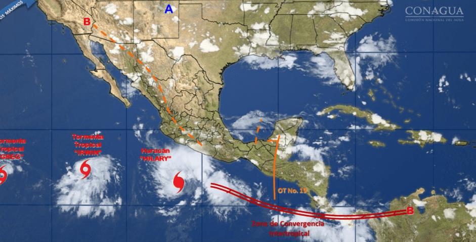 Oleaje en costas de Michoacán, Sinaloa y Baja California Sur