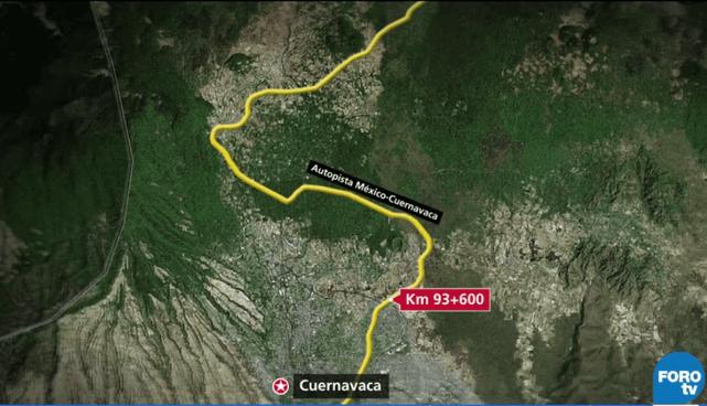 Mapa del Paso Express en Cuernavaca, Morelos